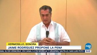 Jaime Rodríguez Se Pronuncia Pena De Muerte