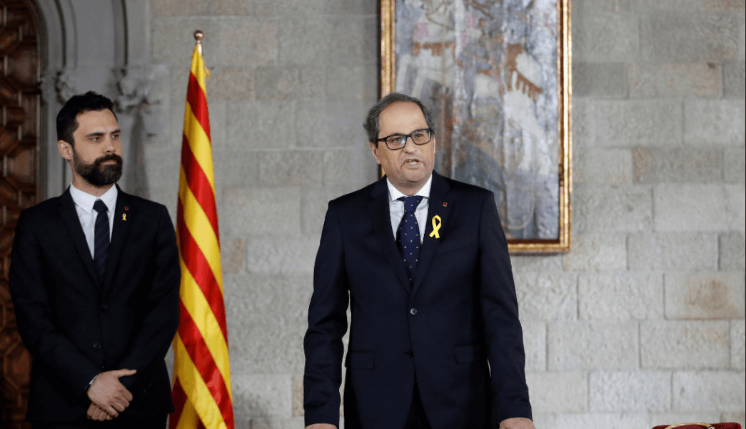 Joaquim Torra jura como nuevo presidente de Cataluna