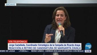 Jorge Castañeda celebra decisión de Margarita Zavala