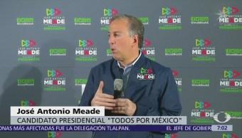 José Antonio Meade reitera que el partido de López Obrador es un negocio