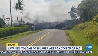 Lava Volcán Kilauea Arrasa 35 Casas