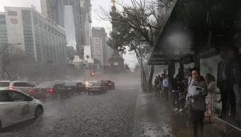 Pronostican sábado de lluvias y granizo en la CDMX