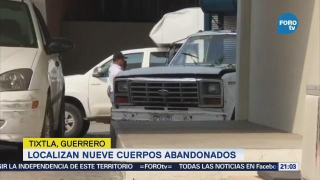 Localizan Nueve Cuerpos Abandonados Tixtla Guerrero