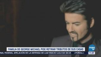 Familia de George Michael pide retirar tributos