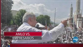 López Obrador vs los empresarios