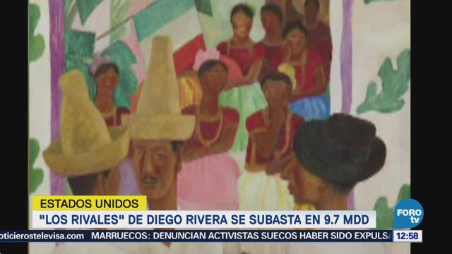 Los Rivales Diego Rivera Subasta 9.7 Mdd Nueva York