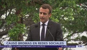 Macron confunde palabras y llama sabrosa