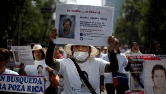 Madres de centroamericanos desaparecidos marchan en la CDMX