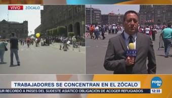 Marchistas avanzan por Paseo de la Reforma, CDMX