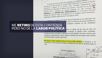 Margarita Zavala Hace Oficial Renuncia Candidatura Presidencial