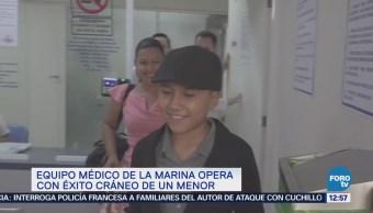 Médicos de la Marina operan con éxito el cráneo de un menor