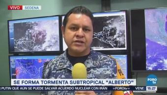 Meteorológico Sedena Monitorea Tormenta Subtropical Alberto