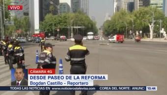 Miembros del SME se manifiestan en Reforma