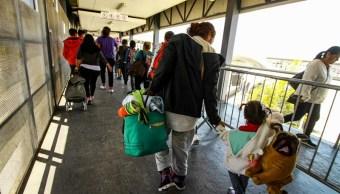 Migrantes varados en Sonora continúan su camino rumbo a Tijuana
