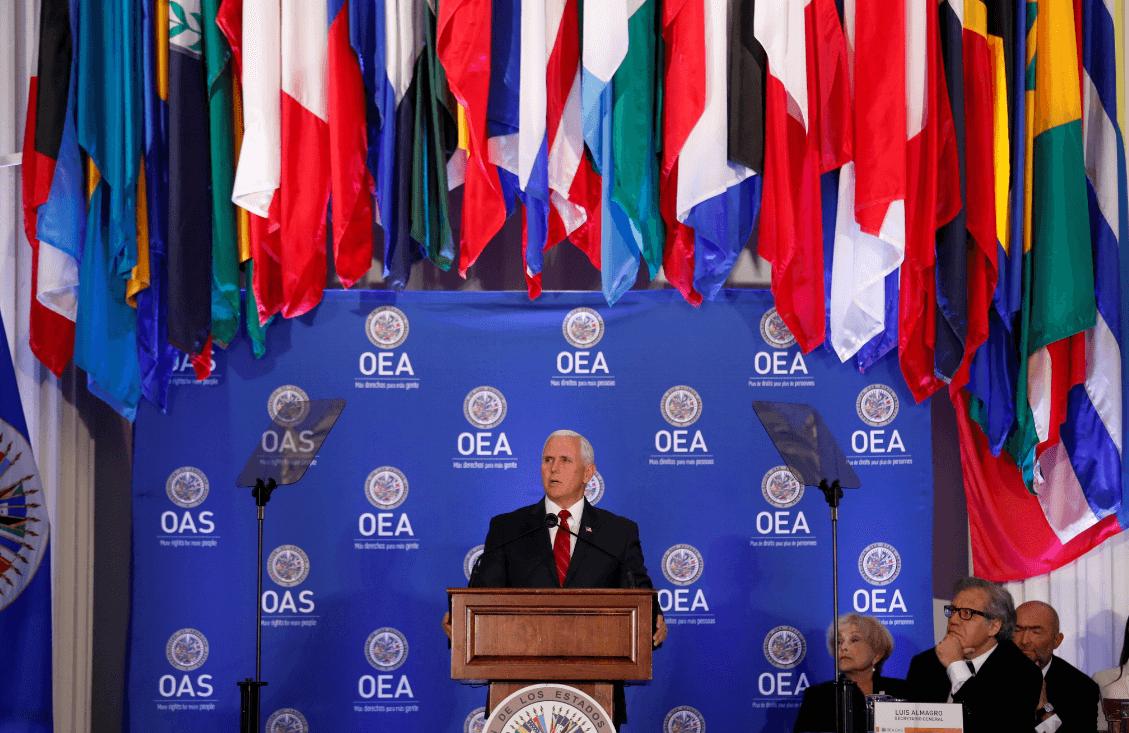 Pence denuncia oscura nube de tiranía' en Cuba, Venezuela y Nicaragua