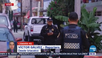 Movilización policiaca por detonaciones de arma de fuego en Iztacalco