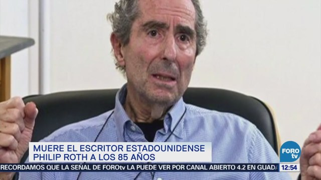 Muere escritor estadounidense Philip Roth