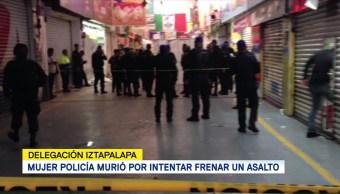 Mujer policía murió por intentar frenar un asalto en Iztapalapa