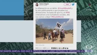 Nestora Salgado le responde a Meade a través de Twitter