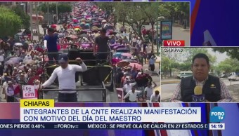 Integrantes CNTE marchan Chiapas