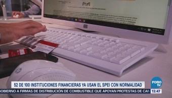 Bancos operan canales normales SPEI: Banxico