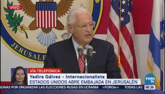 Nueva embajada de EU en Jerusalén es un desafío: Yadira Gálvez