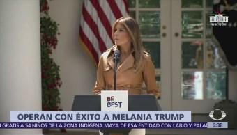 Operan a Melania Trump de un riñón por una 'condición benigna'