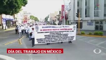 Organizaciones sindicales marchan por el Día del Trabajo