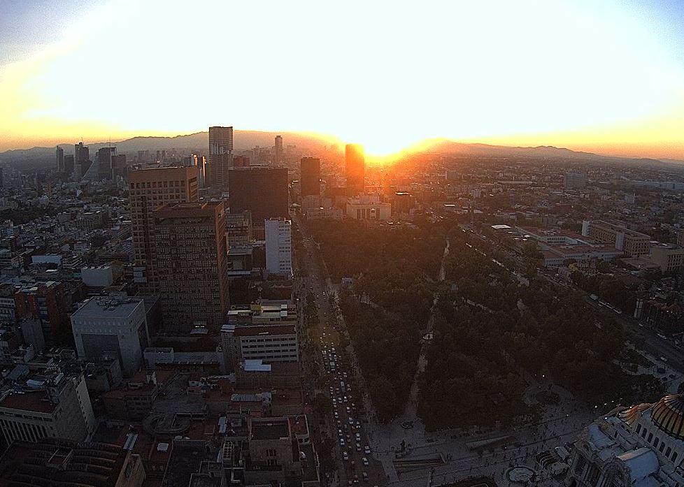 Pronostican ambiente templado y sin lluvia para la Ciudad de México