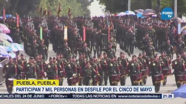Participan 7 Mil Personas Desfile 5 De Mayo Puebla