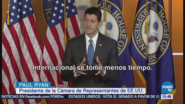 Paul Ryan sugiere posible ampliación del plazo para votar TLCAN en EU