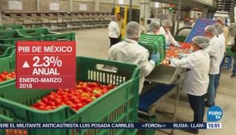 PIB de México creció 1.1 por ciento
