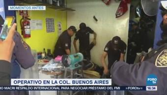 Policía capitalina realiza operativo en la colonia