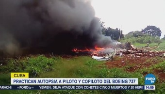 Practican Autopsia Piloto Copiloto Avionazo Cuba
