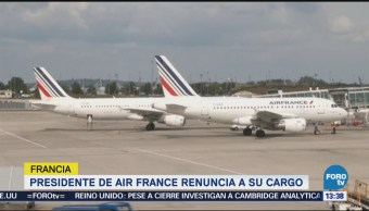 Presidente Air France Renuncia Su Cargo