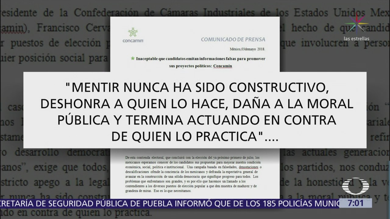 Presidente de la Concamin reprueba declaraciones de AMLO