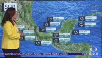 Prevén trombas en costas de Chiapas y Península de Yucatán