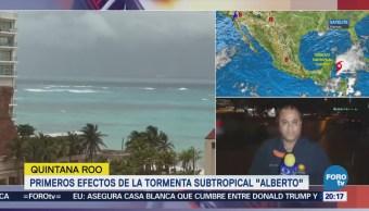 Primeros efectos de la tormenta subtropical Alberto'
