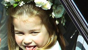 Princesa Charlotte acapara reflectores por sacar la lengua como su tío Enrique