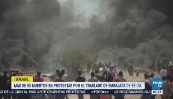 Protestas Franja Gaza Dejan 55 Palestinos Muertos