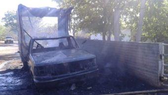 comando armado quema casas y vehiculos badiraguato sinaloa