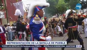 Realizan Representación Batalla De Puebla Peñón De Los Baños