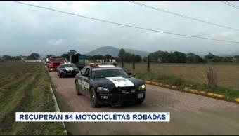 Recuperan 84 Motocicletas Robadas Puebla