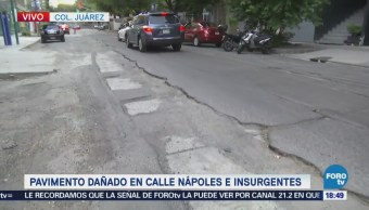 Reportan Pavimento Dañado Colonia Juárez