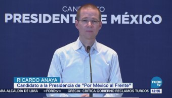 Ricardo Anaya promete seguridad para las inversiones y para los empleos
