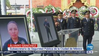Rinden homenaje a policías caídos en la CDMX