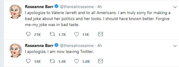 ABC cancela show de Roseanne Barr por tuit racista