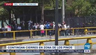 Sale comitiva de transportistas de Los Pinos tras