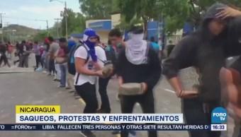 Saqueos, Protestas Enfrentamientos Nicaragua