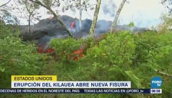 Abre Nueva Fisura VOlcán Kilauea
